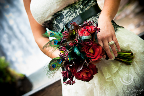 Elopement Bouquet red roses